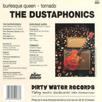 """THE DUSTAPHONICS - Burlesque Queen 7"""" back"""
