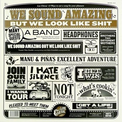 LOS CHICOS - We Sound Amazing but We Look Like Shit - back cover