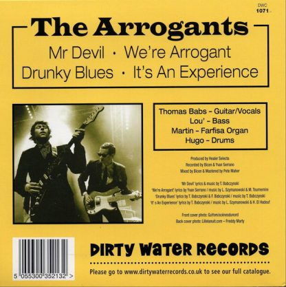 "THE ARROGANTS - Mr Devil 7"" back"