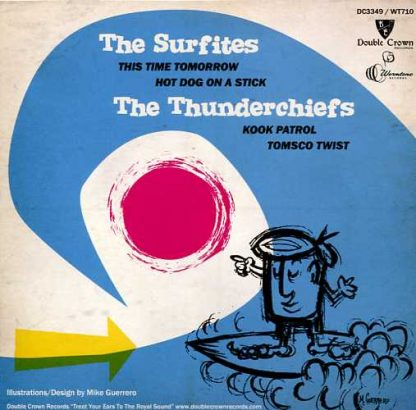 """THE SURFITES / THE THUNDERCHIEFS - Surf Nut! 7"""" back cover"""