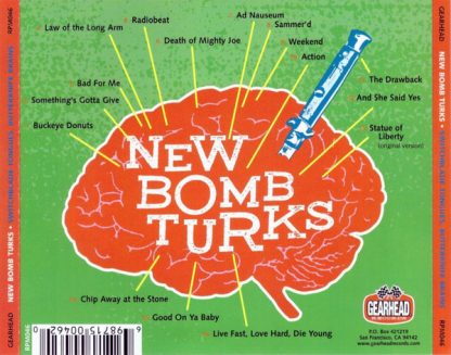 NEW BOMB TURKS - Switchblade Tongues, Butterknife Brains CD back cover
