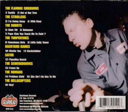 VA: GEARFEST - 100% Live Scandinavian Rock'N'Roll CD back cover