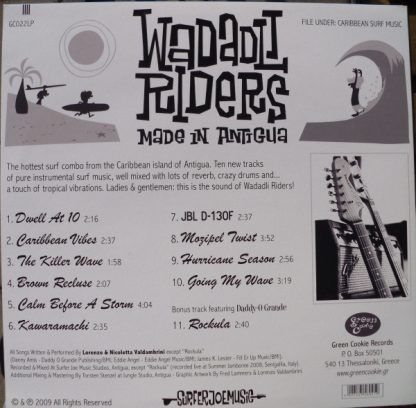 WADADLI RIDERS - Made In Antigua LP back cover