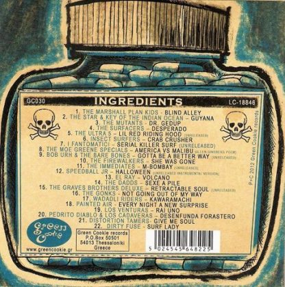 VA: TRAVEL SICKNESS PILLS - A Green Cookie Compilation CD back cover