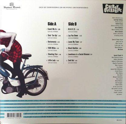 CHERRY OVERDRIVE - Go Prime Time, Honey! LP back cover