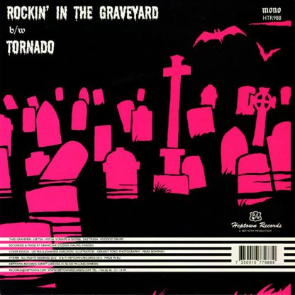 """THEE GRAVEMEN - Rockin' in the Graveyard 7"""" back"""