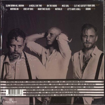 THE TROUBLED THREE - Moving On LP back cover