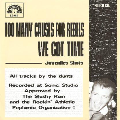 """THE DUNTS - We Got Time 7"""" back"""
