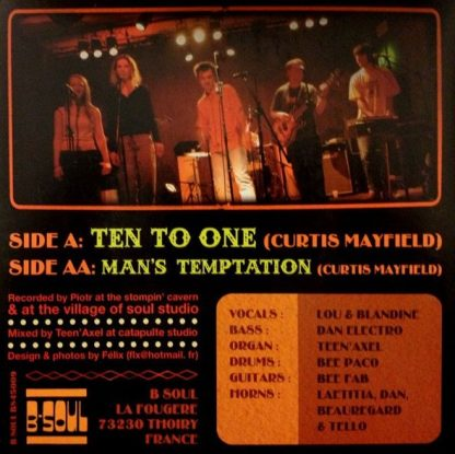 """LOU & DINE Featuring THE B SOUL ALL STARS - Sing Curtis Mayfield 7"""""""