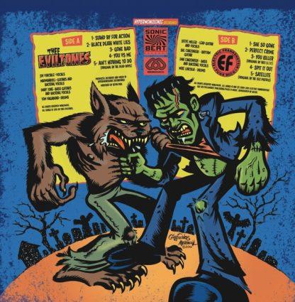 ELECTRIC FRANKENSTEIN / THEE EVILTONES - Apocalypse Party LP back