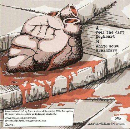 """PRECARIOS - Rockeros Y Sinvergüenzas 7"""" (Red) back cover"""