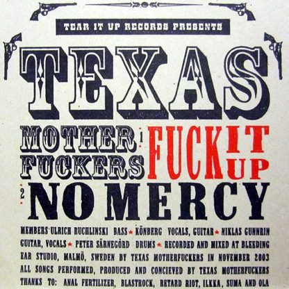 """TEXAS MOTHERFUCKERS / THE RIOTS - Biggest and Baddest Rock & Roll Punkbands 7"""" insert 2"""