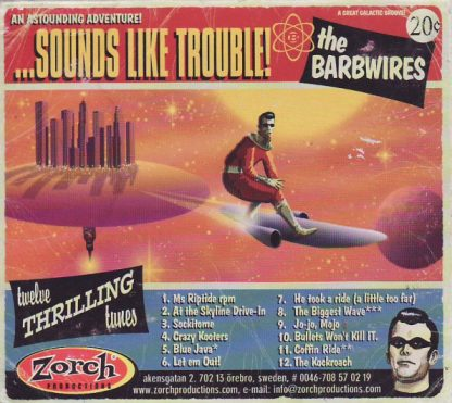 THE BARBWIRES - ...Sounds Like Trouble! CD back cover