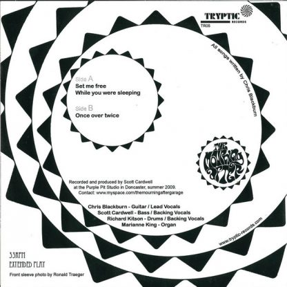 """THE MOURNING AFTER - Set Me Free 7"""" back cover"""