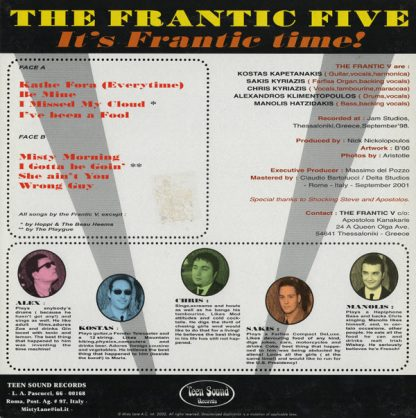 """THE FRANTIC FIVE - It's Frantic Time 10"""" back cover"""