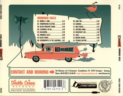 THE KILAUEAS! - Maundaka CD back cover