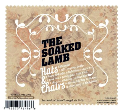 THE SOAKED LAMB - Hats & Chairs CD back cover