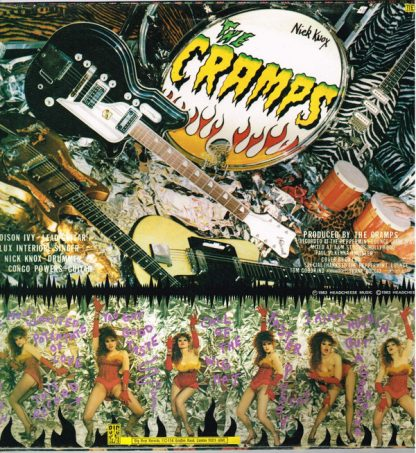 THE CRAMPS - Smell of Female LP back cover