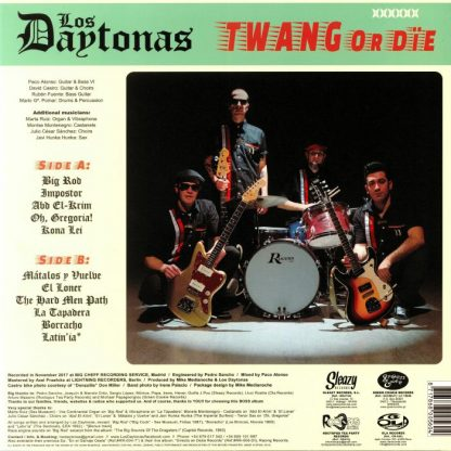 LOS DAYTONAS - Twang or Die LP back cover