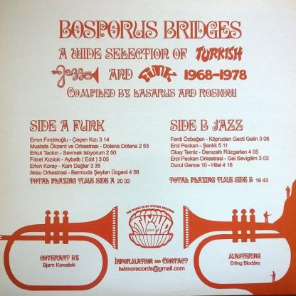 VA: Bosporus Bridges - A Wide Selection of Turkish Jazz and Funk 1968-1978 LP back cover