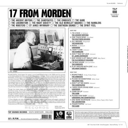 VA: 17 FROM MORDEN: A Path Through The Forest of OAK Records LP back cover