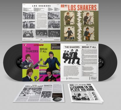 LOS SHAKERS - Los Shakers / Breat It All 2x LP Artwork