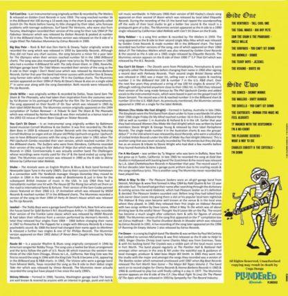V/A: Plundered Volume 2 LP back cover