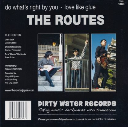 """THE ROUTES: What's Right by You 7"""" back cover"""