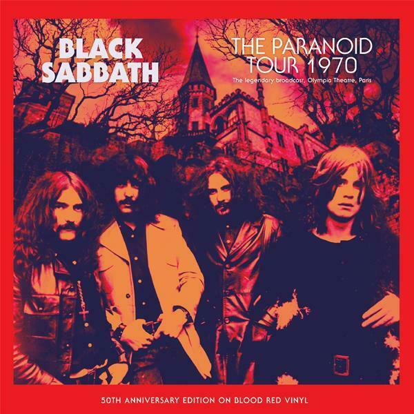 BLACK SABBATH: The Paranoid Tour 1970 Limited Edition LP (red)