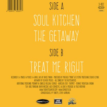 """BUTTSHAKERS, THE: Soul Kitchen 7"""" back cover"""