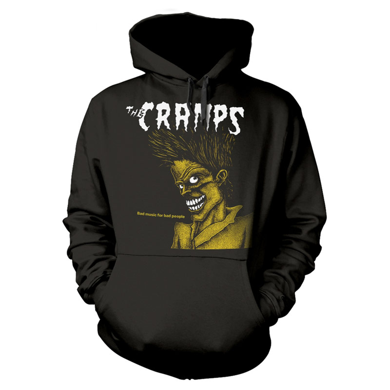 THE CRAMPS Bad Music For Bad People Hoodie Black