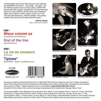 """FRENCH BOUTIK: Mieux Comme Ça 7"""" back cover"""