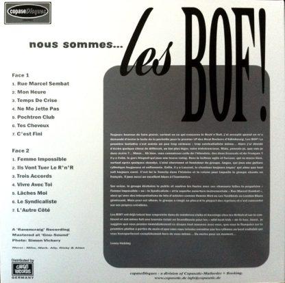 LES BOF!: Nous Sommes Les Bof LP back cover
