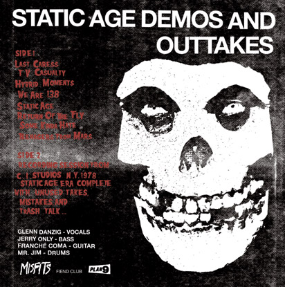 MISFITS: Static Age Demos & Outtakes LP back cover