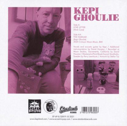"""KEPI GHOULIE: Love Letter / The Familiar 7"""" back cover"""