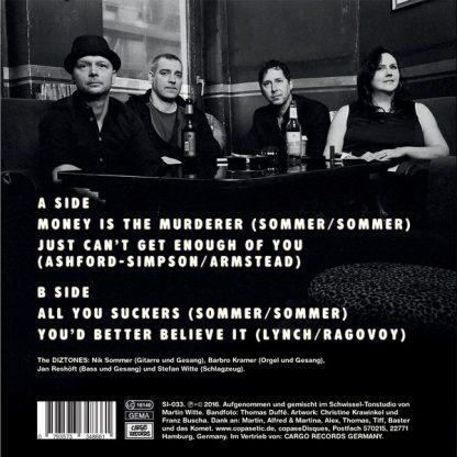 """DIZTONES, THE: Money Is The Murderer 7"""" back cover"""