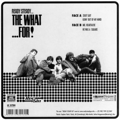 """WHAT FOR, THE: Ready Steady...The What...For 7"""" EP back cover"""