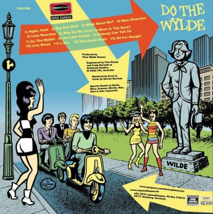 WYLDE OSCARS, THE: Do The Wylde LP back cover