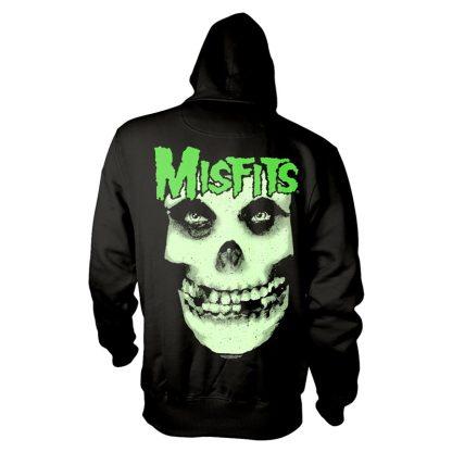 MISFITS, THE: Glow Jurek Skull Hooded Sweatshirt Black