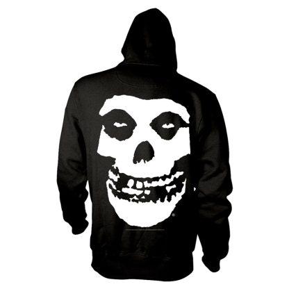 MISFITS White Skull Logo Hooded Sweatshirt Black (back)