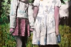 Mixed media Houtskool & pastel op papier