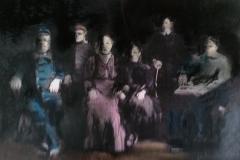 Mixed media Houtskool & pastel op papier -  9