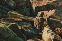 Acryl & wood charcoal on canvas 200x200
