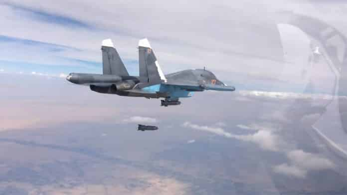 Russian Air Force hits militant target in Syria