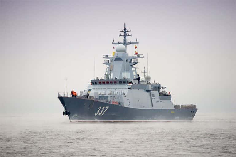 Cutting-edge Russian guided-missile corvette in White Sea trials
