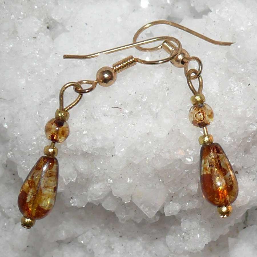 Non Gemstone: Beaded Drop Earrings