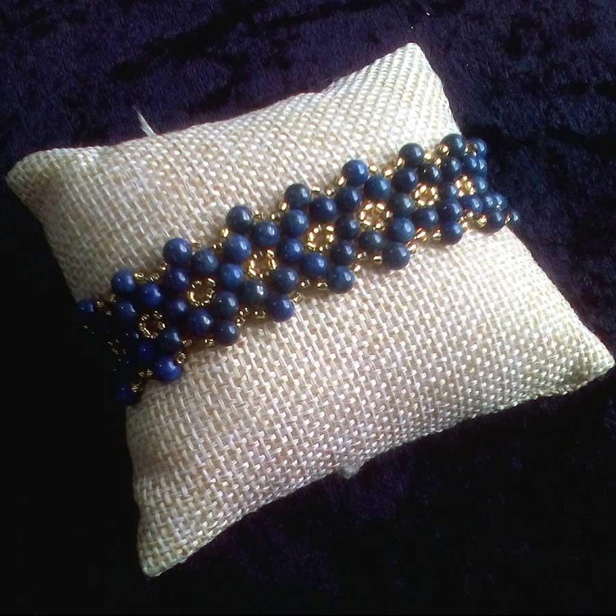 Bracelet: Lapis Lazuli Beaded Bracelet