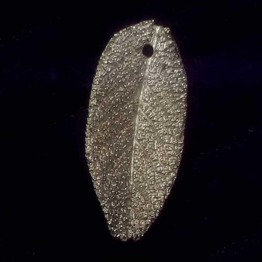 Fine Silver (999) Leaf Imprint
