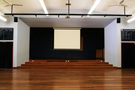 school audio visual install