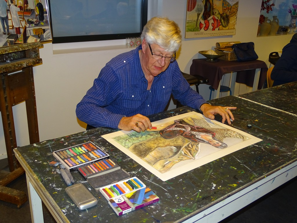 Leo Zonneveld aan het werk